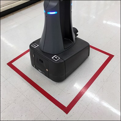 Retail Robot Rest Stop Floor-Graphic