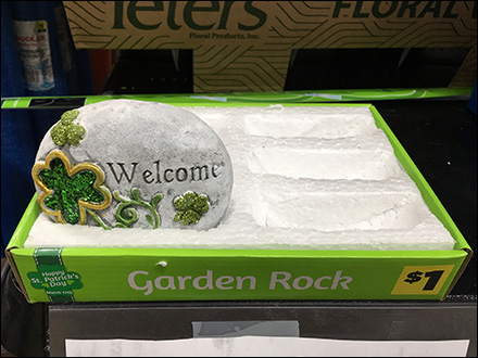 Garden Rock Styrofoam Tray Merchandising