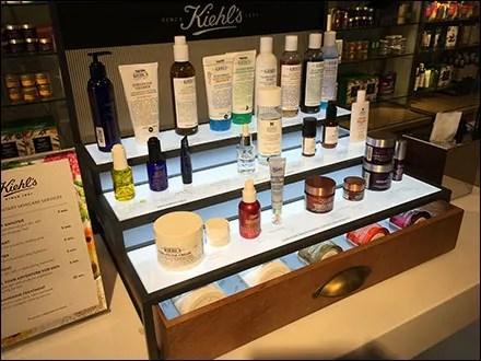 Kiehl's Cosmetics Lineup Countertop Display