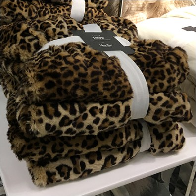 Martha Stewart Faux Leopard Banded Throws