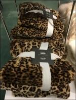 Martha Stewart Faux Leopard Banded Throws