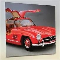 Mercedes Benz 1955 Red Gullwing Poster