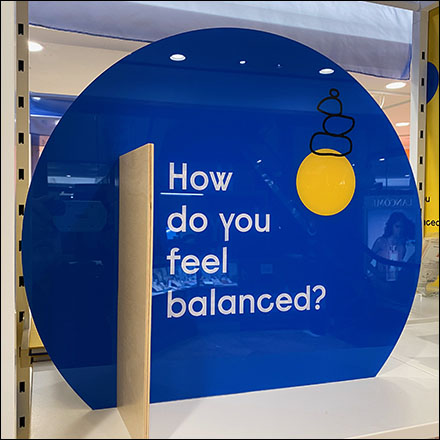 Experiential Do-You-Feel-Balanced Blue Tower