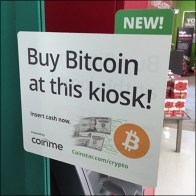 Coinstar Bitcoin Payout In-Store Promo Flag