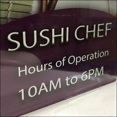 Sushi-Chef Hours of Operation Promise
