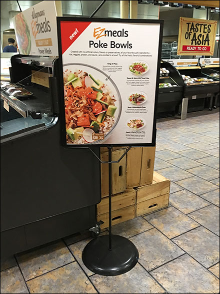 EZmeals Sushi Poke Bowls Sign Stand