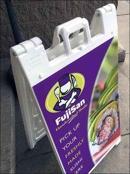 FujiSan Handcrafted Sushi Sidewalk Sign