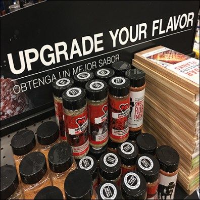 Upgrade-Your-Flavor Grilling Endcap Display