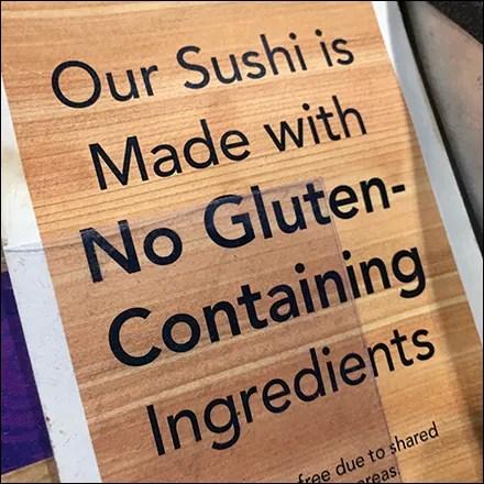 No-Gluten vs Gluten-Free Sushi