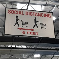 CoronaVirus Social Distancing Ceiling Banner