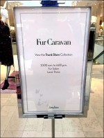 Fur Trunk Show Collection Sign