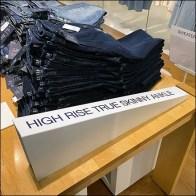 High-Rise Denim Dimensional Sign