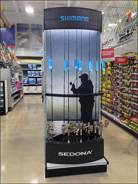 Shimano Fishing Pole Endcap Stands-Tall