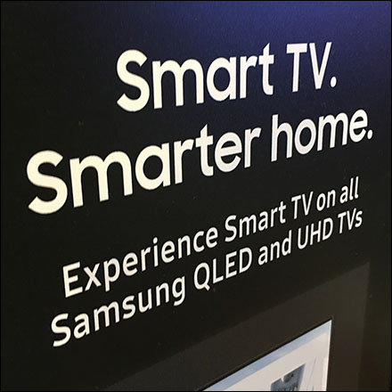 Samsung Smart-Home Television Demo Controls