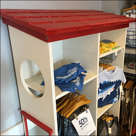 Shed Roof Clothes Rack In-Store