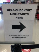 CoronaVirus Self-Checkout Line Directional