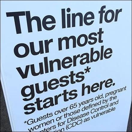 CoronaVirus Vulnerable VIP Guest Queue