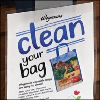 Wegmans CoronaVirus Clean Your Shopping-Bag Feature