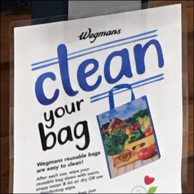 Wegmans CoronaVirus Clean Your Shopping-Bag Feature