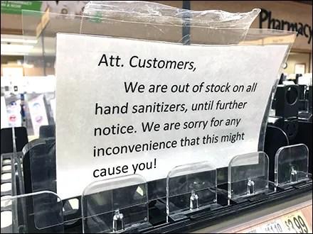 CoronaVirus Sanitizer Auto-Feed Stock-Out