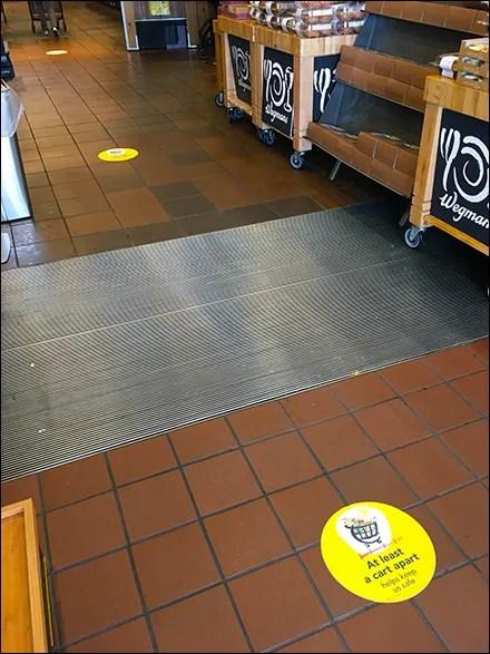 CoronaVirus Entrance Distancing Floor Graphics
