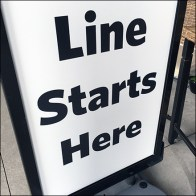 CoronaVirus Store-Entrance Distancing Starting Point