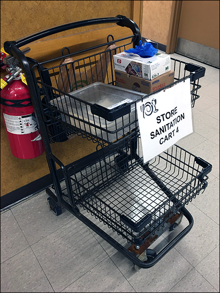 CoronaVirus Store Sanitation Cart #4
