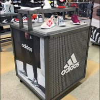 Adidas-Branded Wire-Mesh Island Display