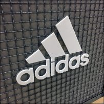 Adidas-Branded Wire-Mesh Island Display