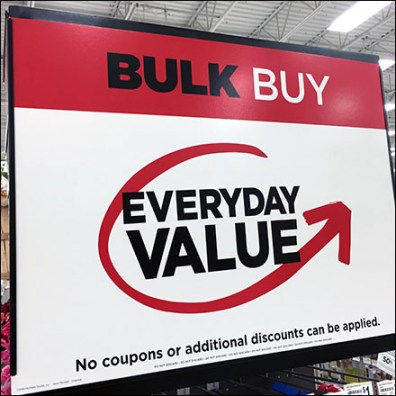 Bulk-Buy Endcap Discount Exclusions