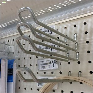 Concentric Pegboard Loop Hook Configuration