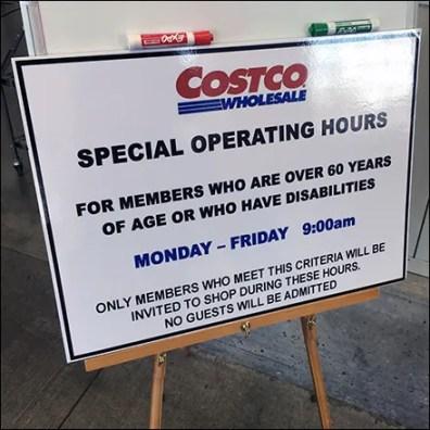 CoronaVirus Special Hours Tripod Easel