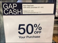 Gap Cash Table-Top Sign Header