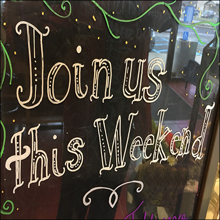 Join-Us-This-Weekend Chalkboard Invitation