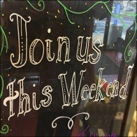 Join-Us-This-Weekend ChalkboardInvitation