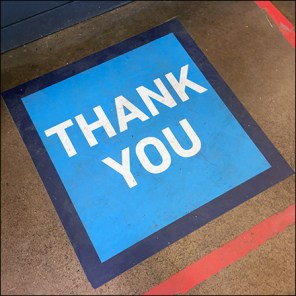 CoronaVirus Social Distancing Thank-You Floor Graphic