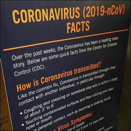 CoronaVirus Facts Prevent Illness Entry Sign