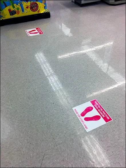CoronoVirus Thank-You Social-Distancing Floor Graphic