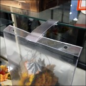 Glass-Shelf Vinyl-Pouch Sign-Holder