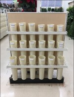 Plastic Flower Vase Endcap Display