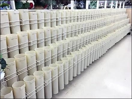 Plastic Flower Vase Inline Display