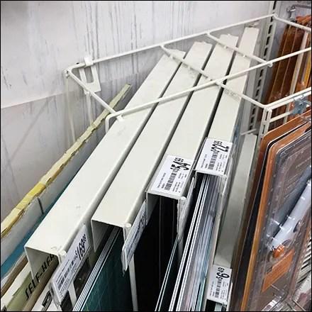 Diagonal Wall-Hung Cutting-Mat Rack