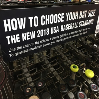Modell's Choosing Baseball Bat Size
