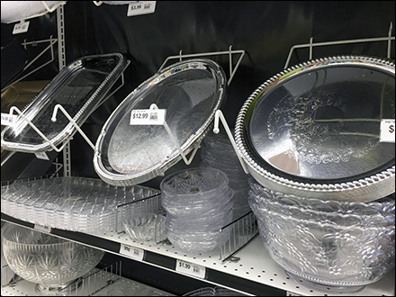 Pegboard-Mount Declined Trays for Trays