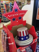 Americana Free-Standing Corrugated Display
