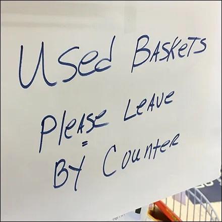 CoronaVirus Shopping Basket Disinfecting Strategy