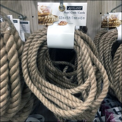 Rope Hank Merchandising Scan Hook