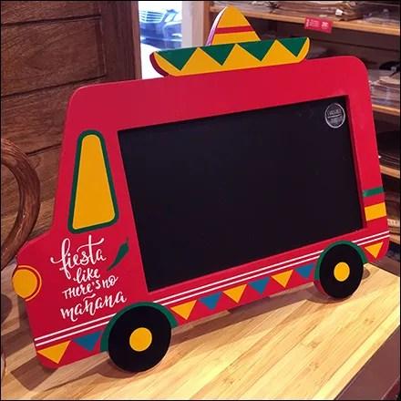 Taco-Truck Chalkboard Prop Adds Spice