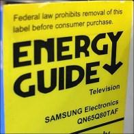 Vertical Design Energy-Rating-Guide Label