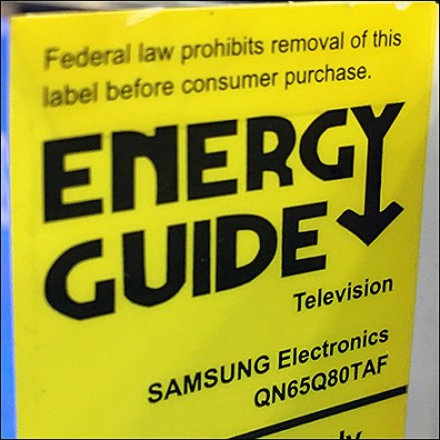 Vertical Design Energy-Rating-Guide Label